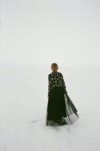 Sukienka na zimę, kobieta